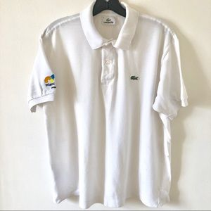 Men's Lacoste White Polo Miami Open Edition Size 5